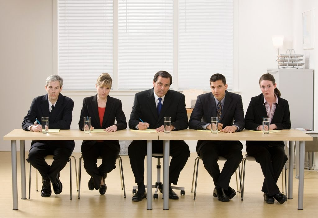 are your hiring managers asking illegal interview questions panel of co workers about to conduct a job interview